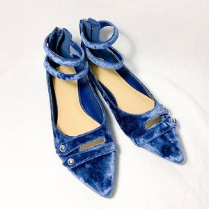 Marc Fisher Alie Blue Velvet Flat